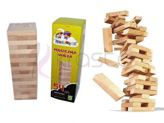 Drewniane Klocki Jenga Chwiejca Się Wieża Norimpex