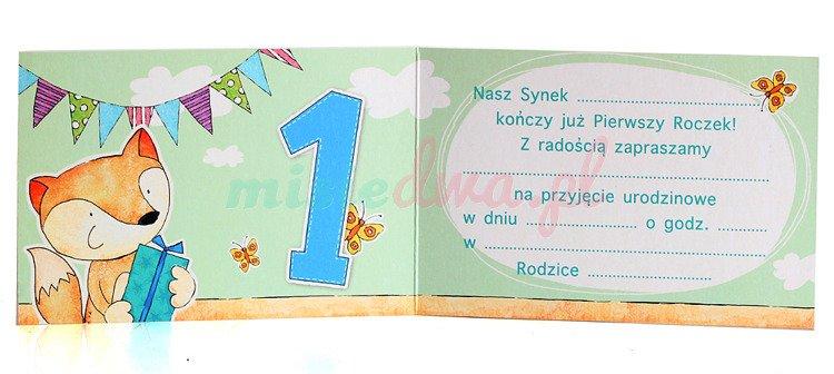 Zaproszenia Urodzinowe Na Roczek Lisek