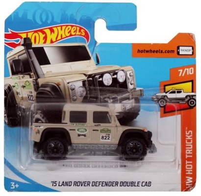 Mattel HOT WHEELS Land Rover Defender Double Cab