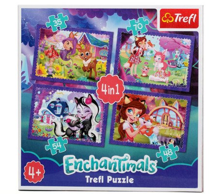 TREFL puzzle Enchantimals 4w1 - nowy wzór